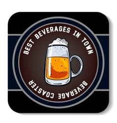 Square beverage coaster color vector