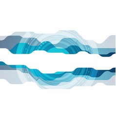 Abstract blue modern technology background vector