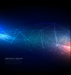 Abstract technology wireframe mesh in digital vector