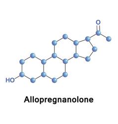allopregnanolone tetrahydroprogesterone vector image
