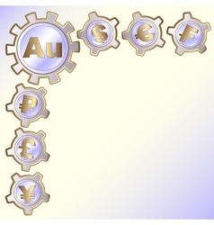 background business monetary symbols vector image vector image