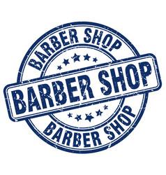 Barber shop blue grunge round vintage rubber stamp vector