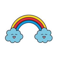 beautiful rainbow cartoon vector image vector image