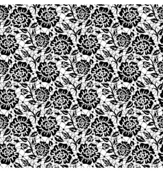 Black rose lace vector image