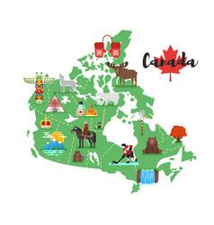 Canadian national cultural symbols vector