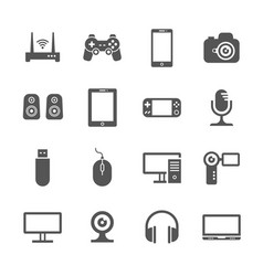 computer gadgets and handheld digital device vector image vector image