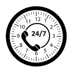 Customer service 247 application icon vector image