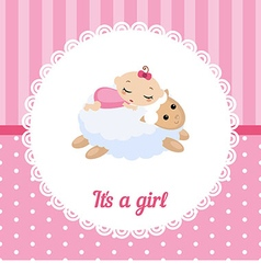 Cute baby girl card vector image vector image