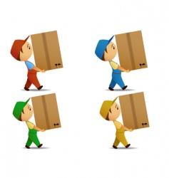 Delivery boy vector