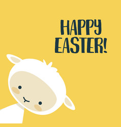 easter background with cute lamb vector image