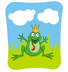frog prince vector image vector image