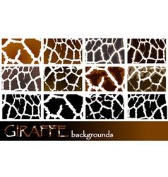 giraffe pattern backgrounds vector image