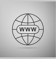 go to web icon www icon world wide web symbol vector image