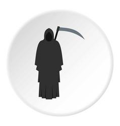 Grim reaper icon circle vector
