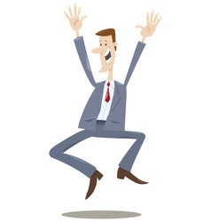 Happy trader cartoon vector