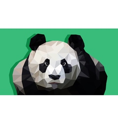 Modern panda in polygonal style vector image