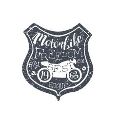 Motorbike freedom vintage emblem vector