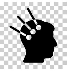 Neural interface icon vector