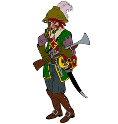 One eyed pirate vector image