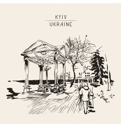 Original sketch of kyiv ukraine town landscape vector