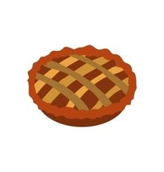 Pie icon flat vector