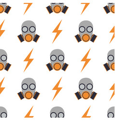 Respiratory protection mask seamless pattern vector
