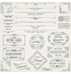 Retro calligraphic design elements2 vector