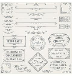 Retro Calligraphic Design Elements2 vector image