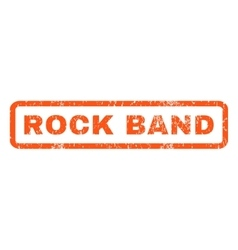 Rock Band Rubber Stamp vector image vector image