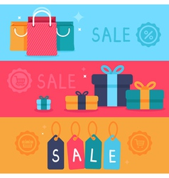 sale concept in flat style vector image vector image