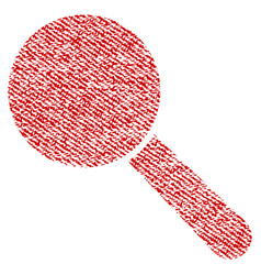 search tool fabric textured icon vector image vector image