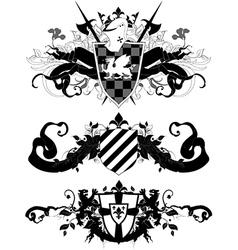 set of ornamental heraldic shields vector image vector image