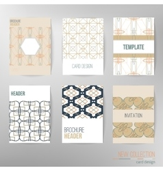 Set of stylish multipurpose cards Can be vector image