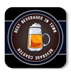 Square beverage coaster color vector