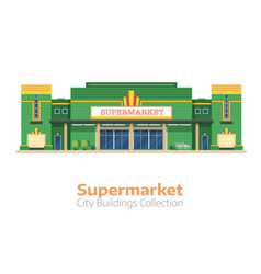 supermarket or grocery store building vector image vector image