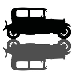 Vintage black car vector