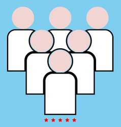working together team concept icon color fill vector image vector image