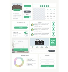 Ui kit for mobile 01 vector