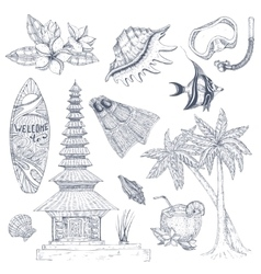 Balinese Symbols Set vector image