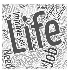 Personal life improving to grow word cloud concept vector