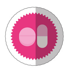 Emblem capsule and tablet icon image vector