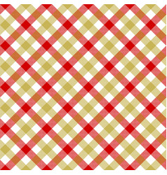 White red beige check plaid fabric texture vector
