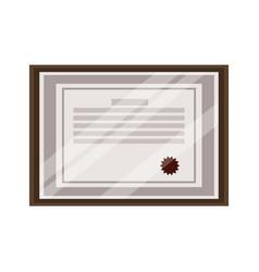 Framed award certificate diploma degree vector