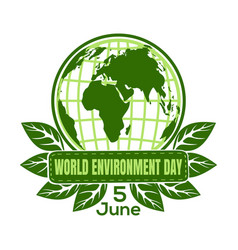 World environment day logo design vector