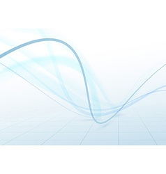 Transparent swoosh blue waves perspective vector image