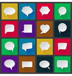 White paper speech icons vector