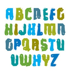 Handwritten multicolored uppercase letters vector