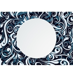 Round copy space banner vector