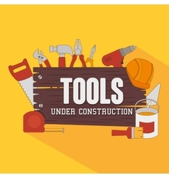 Constructions and tools theme design vector