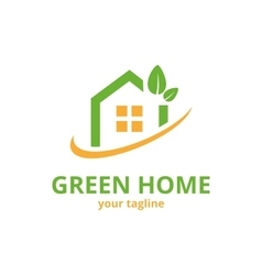Green home logo template vector